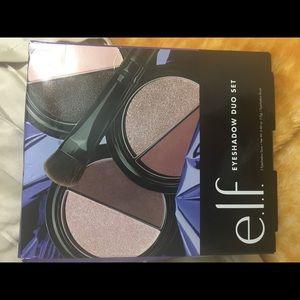 ELF 3 Eyeshadows Duos And Eyeshadow Brush Set